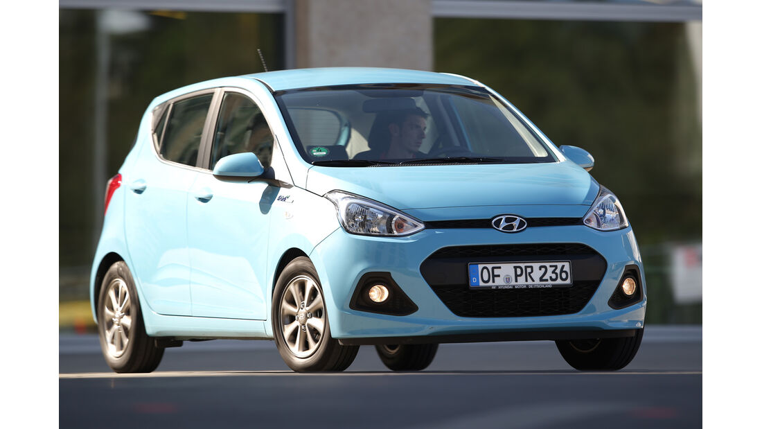 Hyundai i10 BLUE 1.0, Frontansicht