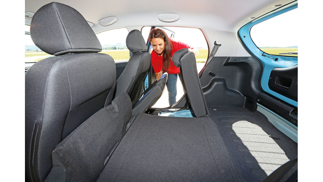 Hyundai i10 Blue 1.0 Trend, Fondsitz, Umklappen