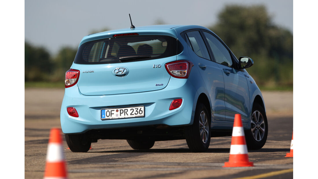 Hyundai i10 Blue 1.0 Trend, Heckansicht