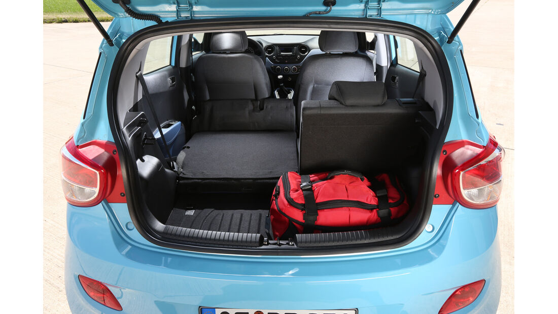 Hyundai i10 Blue 1.0 Trend, Kofferraum