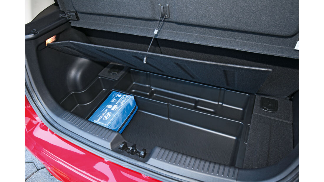 Hyundai i10, Kofferraum
