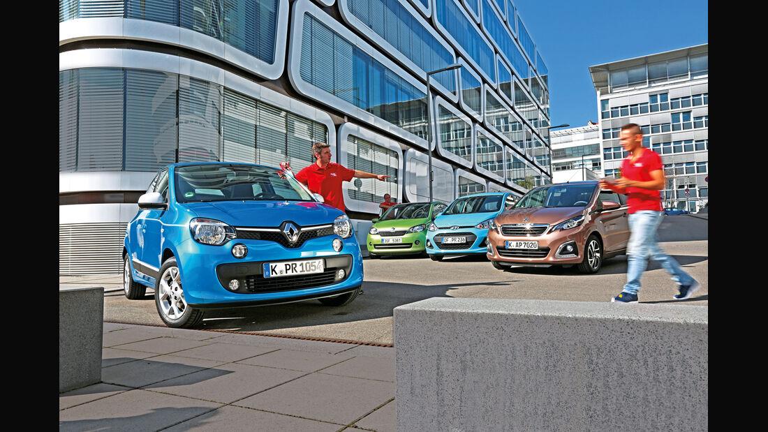 Hyundai i10, Peugeot 108, Renault Twingo, Skoda Citigo