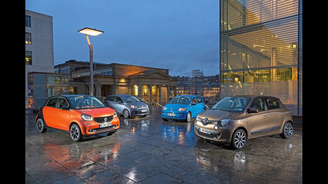 Hyundai i10, Renault Twingo, Smart Forfour, VW Up