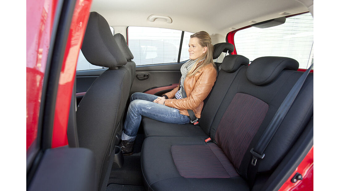 Hyundai i10, Rücksitze