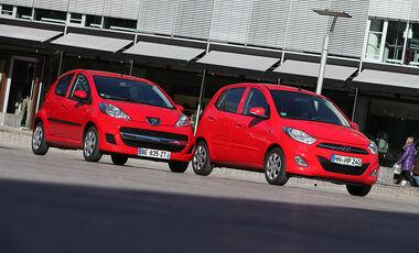 Hyundai i10 und Peugeot 107