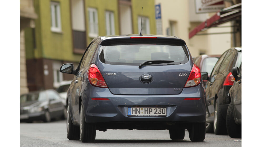 Hyundai i20 1.1 CRDi, Heckansicht
