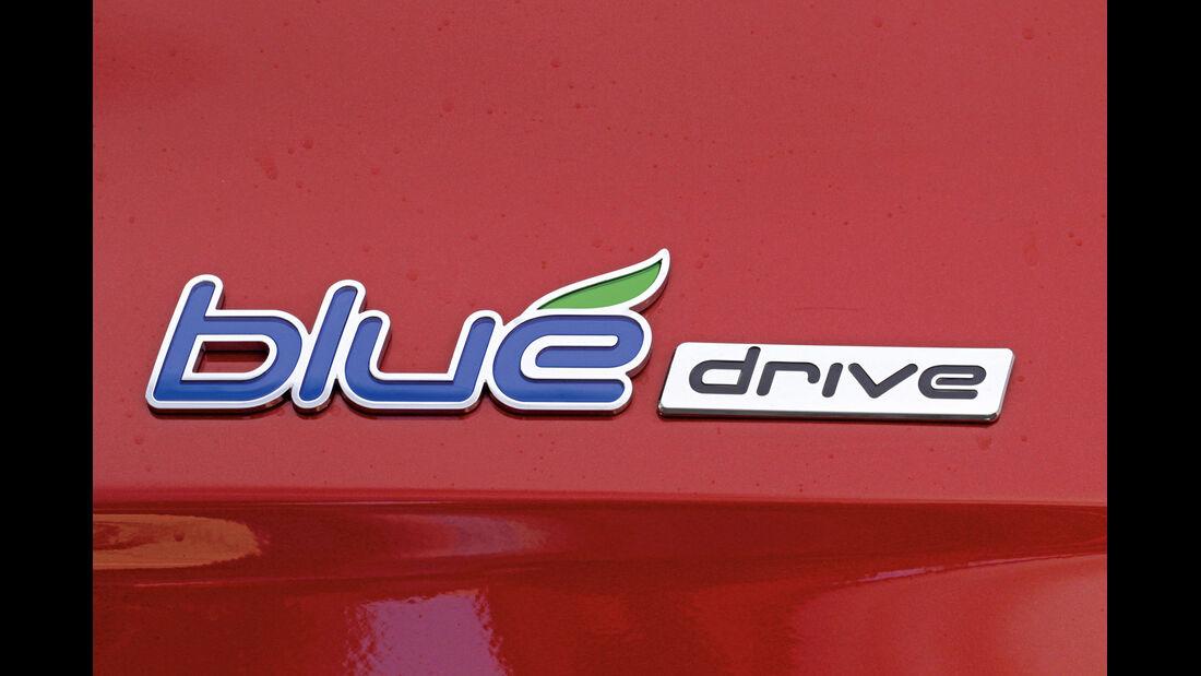 Hyundai i20 Blue 1.1 CRDi Trend, Emblem, Typenbezeichnung