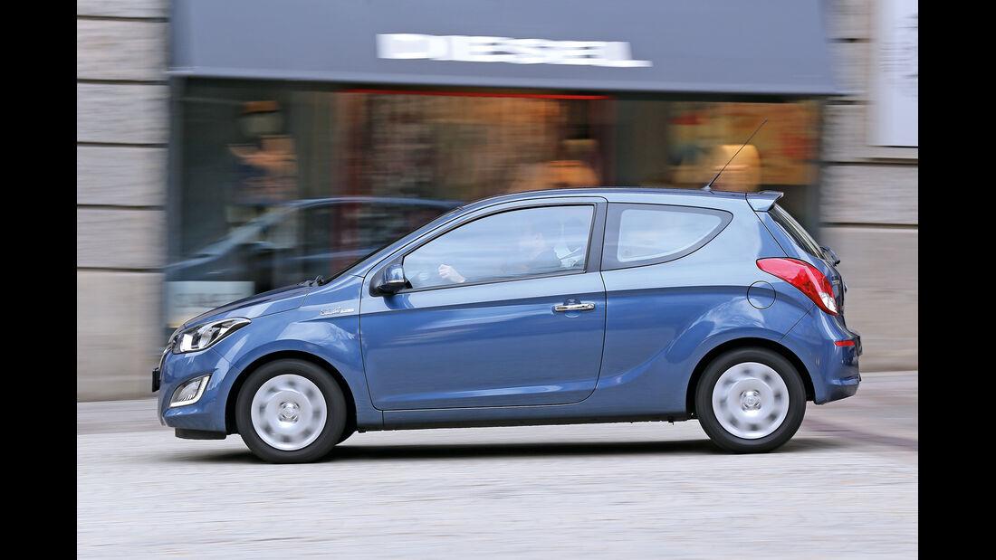 Hyundai i20 Blue 1.1 CRDi Trend, Seitenansicht
