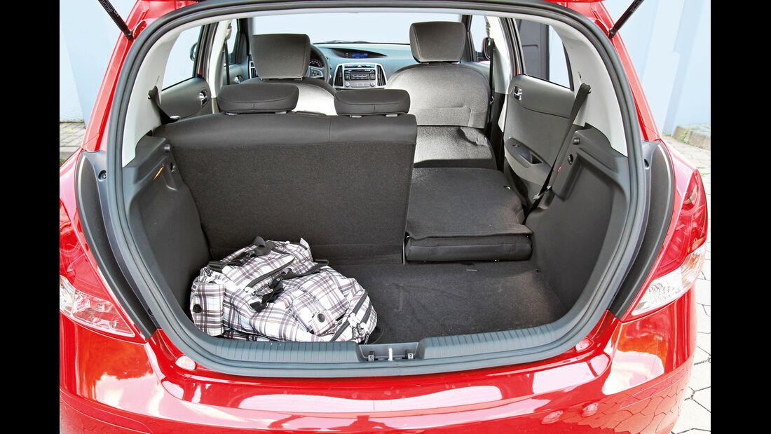 Hyundai i20, Kofferraum