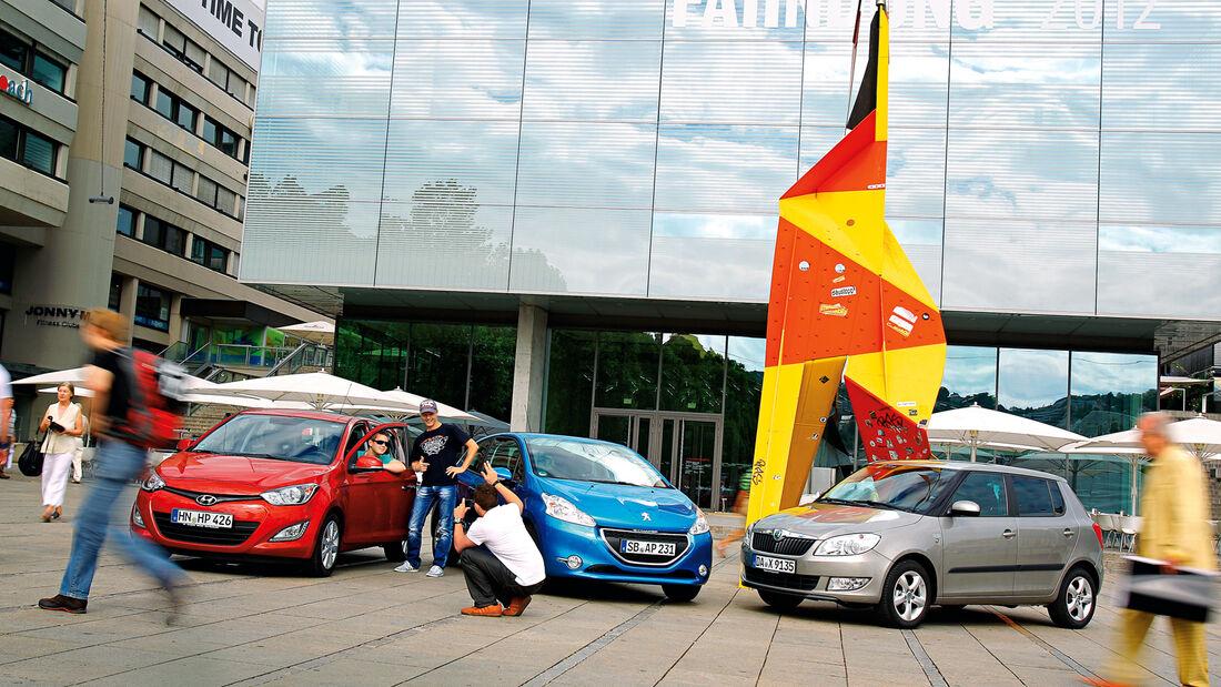 Hyundai i20, Peugeot 208, Skoda Fabia, Frontansicht