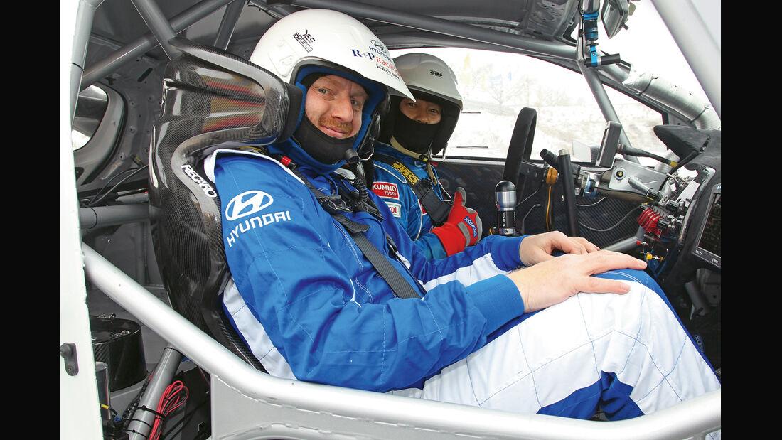 Hyundai i20 WRC, Cockpit, Beifahrersitz