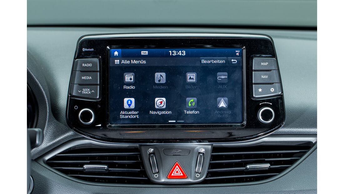 Hyundai i30 1.4 T-GDI, Infotainment