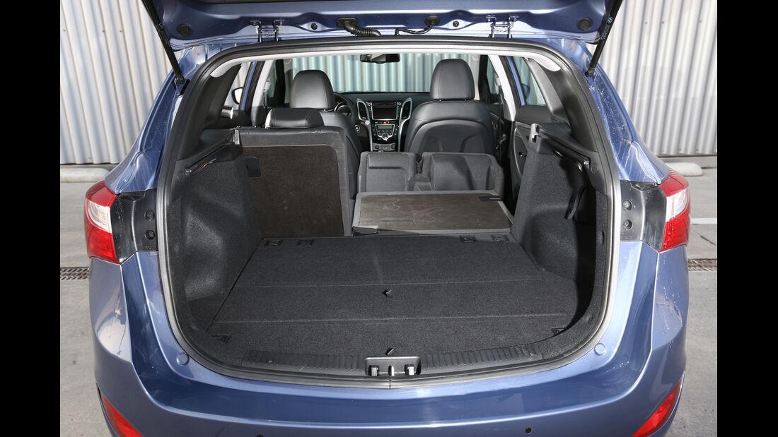 Hyundai i30 1.6 CRDI, Kofferraum, Ladefläche