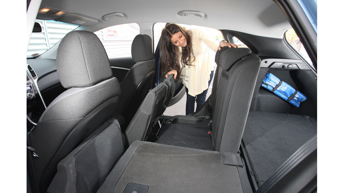 Hyundai i30 1.6 CRDi, Sitz umklappen
