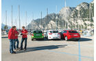 Hyundai i30 1.6, Mazda 3 Skyactiv G 120, Skoda Rapid Spaceback 1.4 TSI, Heckansicht