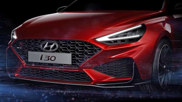 Hyundai i30 Facelift Teaser