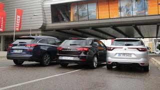 Hyundai i30 Kombi 1.4 T-GDI, Renault Mégane Grandtour Tce 130, Seat Leon ST 1.4 TSI ACT, Heck