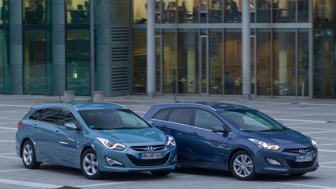 Hyundai i30 Kombi, Hyundai i40 Kombi, Seitenansicht