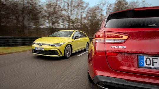 Hyundai i30 Kombi gegen VW Golf Variant, ams 0221 Vergleichstest