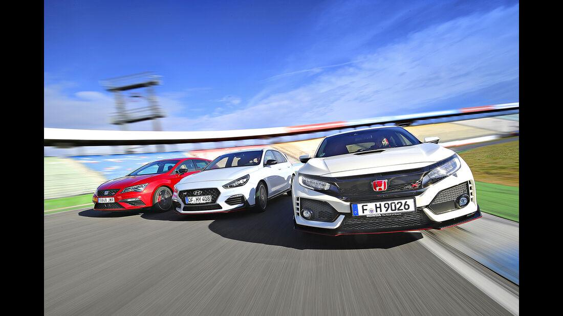 Hyundai i30 N Performance, Honda Civic Type R, Seat Leon Cupra 300, Exterieur
