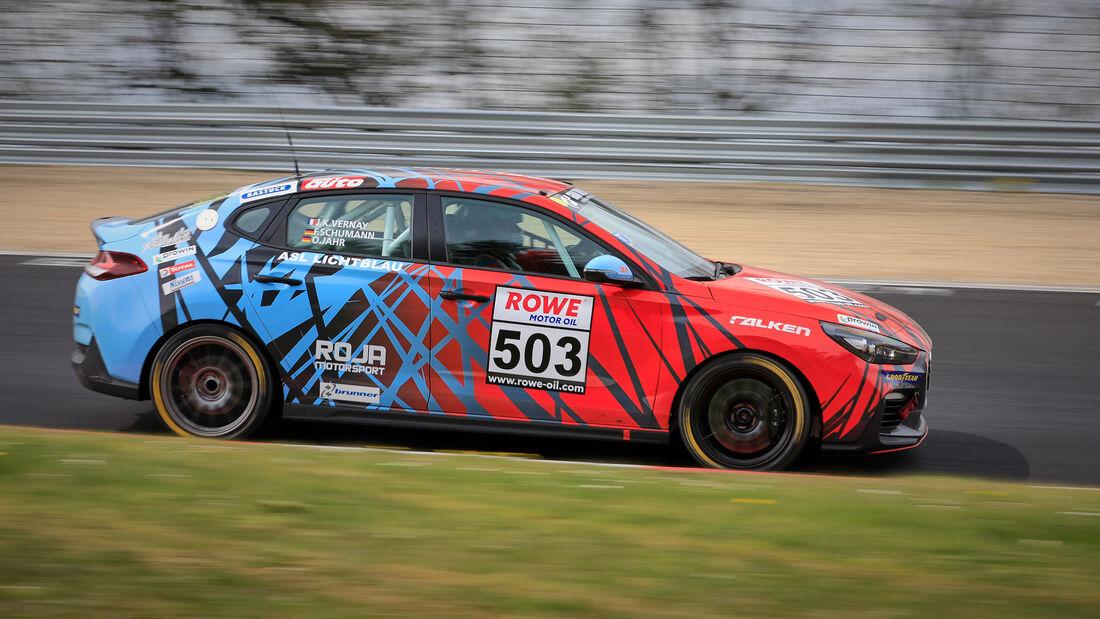 Hyundai i30 N - Startnummer #503 - ROJA Motorsport by ASL Lichtblau - VT2 - NLS 2021 - Langstreckenmeisterschaft - Nürburgring - Nordschleife