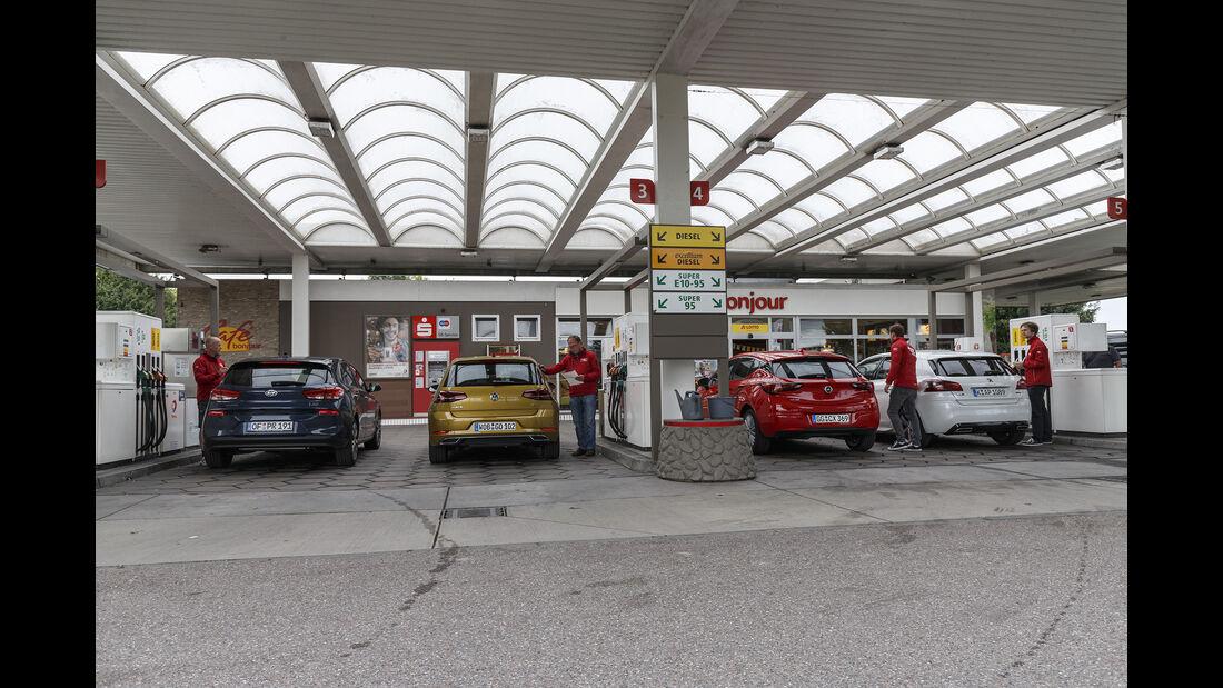 Hyundai i30, Opel Astra, Peugeot 308, VW Golf, Exterieur