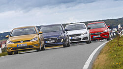 Hyundai i30, Opel Astra, Peugeot 308, VW Golf, Exterieur Front