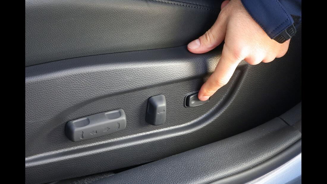 Hyundai i40, Fahrersitz, Einstellung