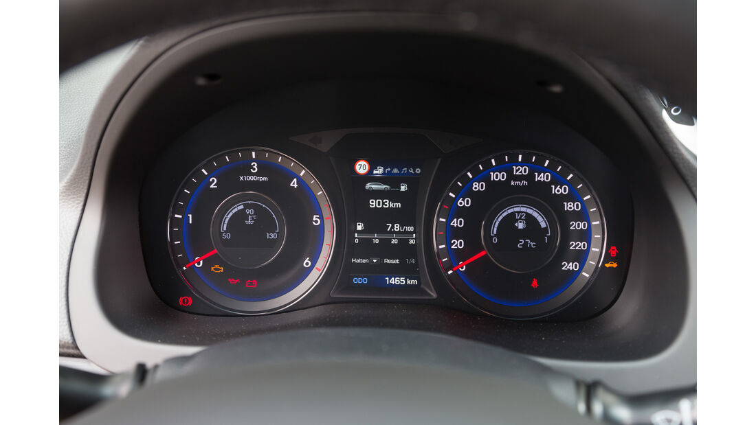 Hyundai i40 Kombi 1.7 CRDi, Rundinstrumente