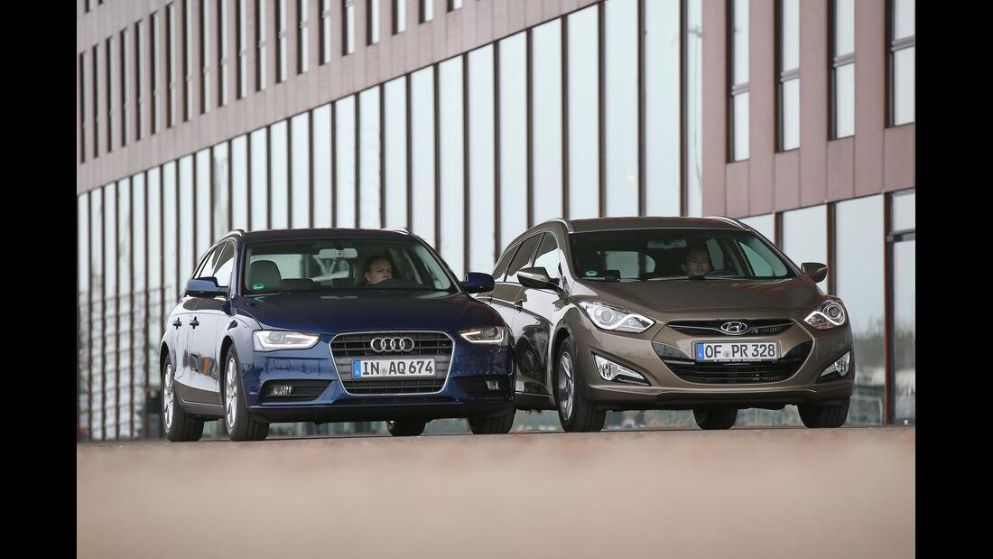 Hyundai i40 Kombi Blue 1.7 CRDi Style, Audi A4 Avant 2.0 TDI Ultra Attraction