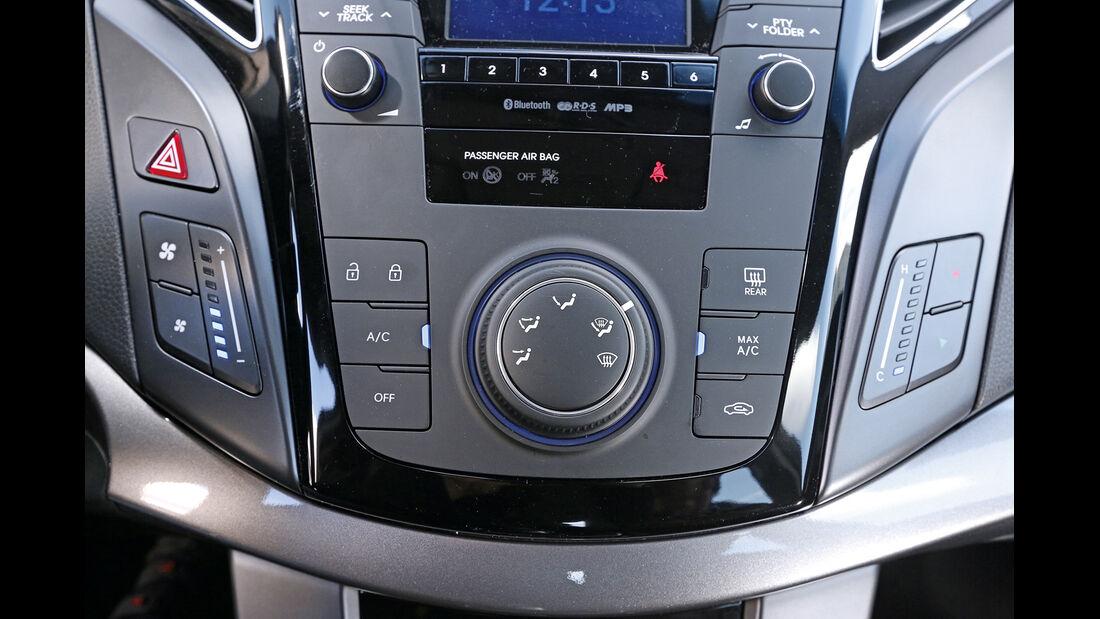 Hyundai i40, Mittelkonsole, Klimaanlage