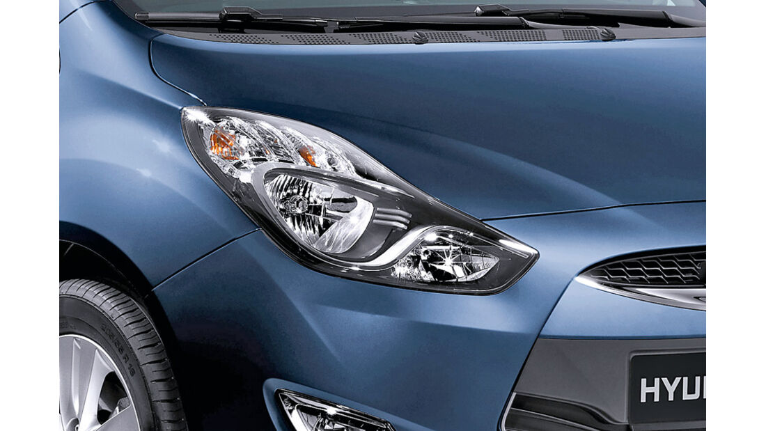 Hyundai ix20, Detail, Scheinwerfer, Blueberry