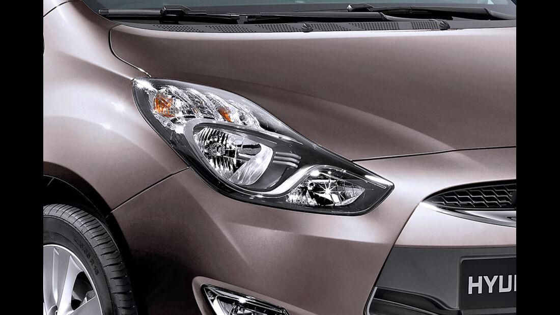 Hyundai ix20, Detail, Scheinwerfer, Cashmere Brown