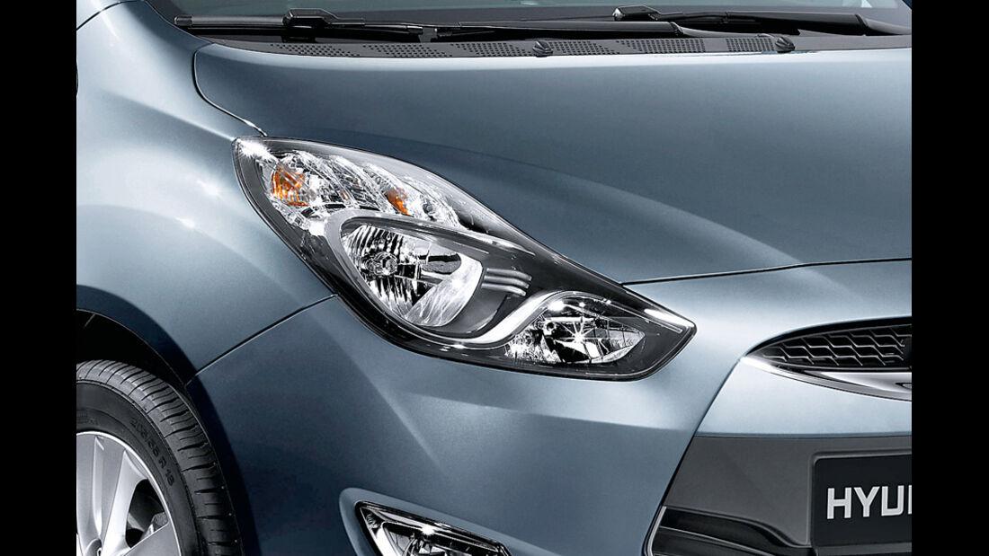 Hyundai ix20, Detail, Scheinwerfer, Steel Grey