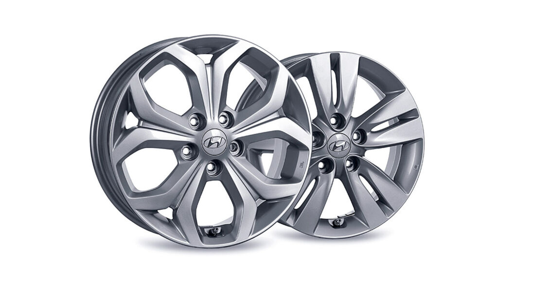 Hyundai ix20, Felge, 17-Zoll, 16-Zoll