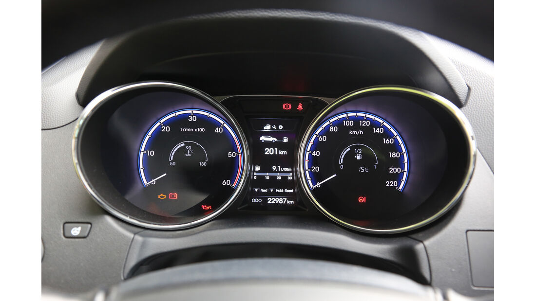 Hyundai ix35 2.0 CRDi 4WD, Rundinstrumente