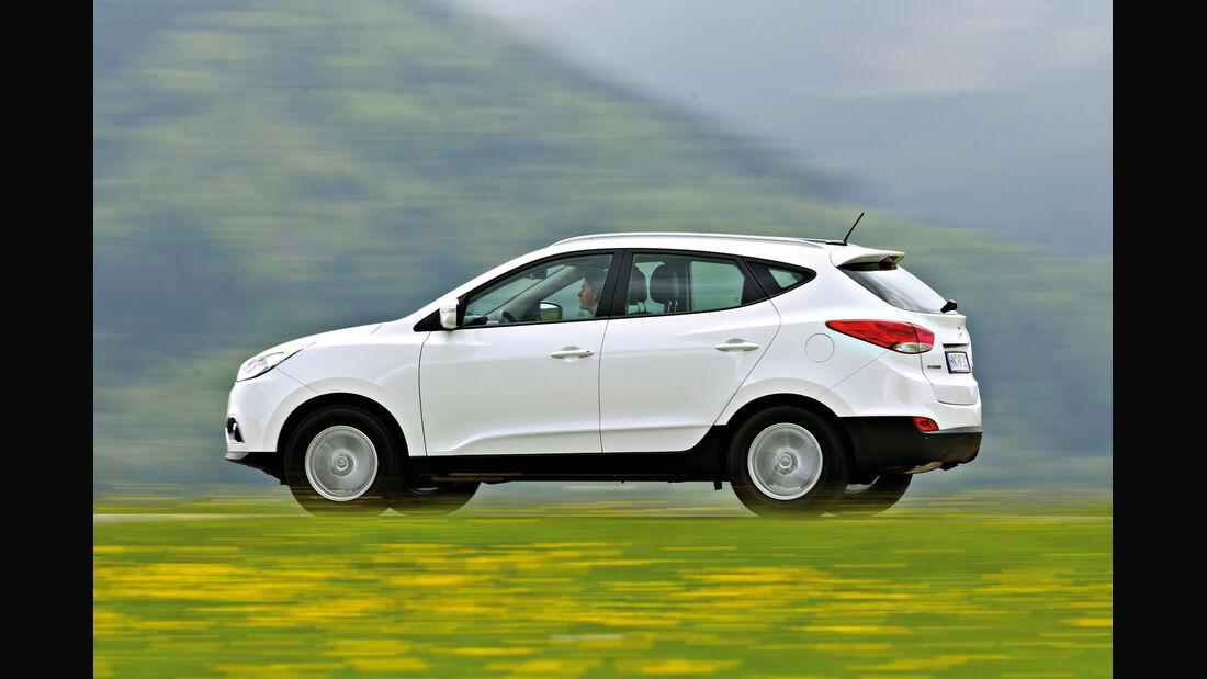 Hyundai ix35 2.0 CRDi, Seitenansicht