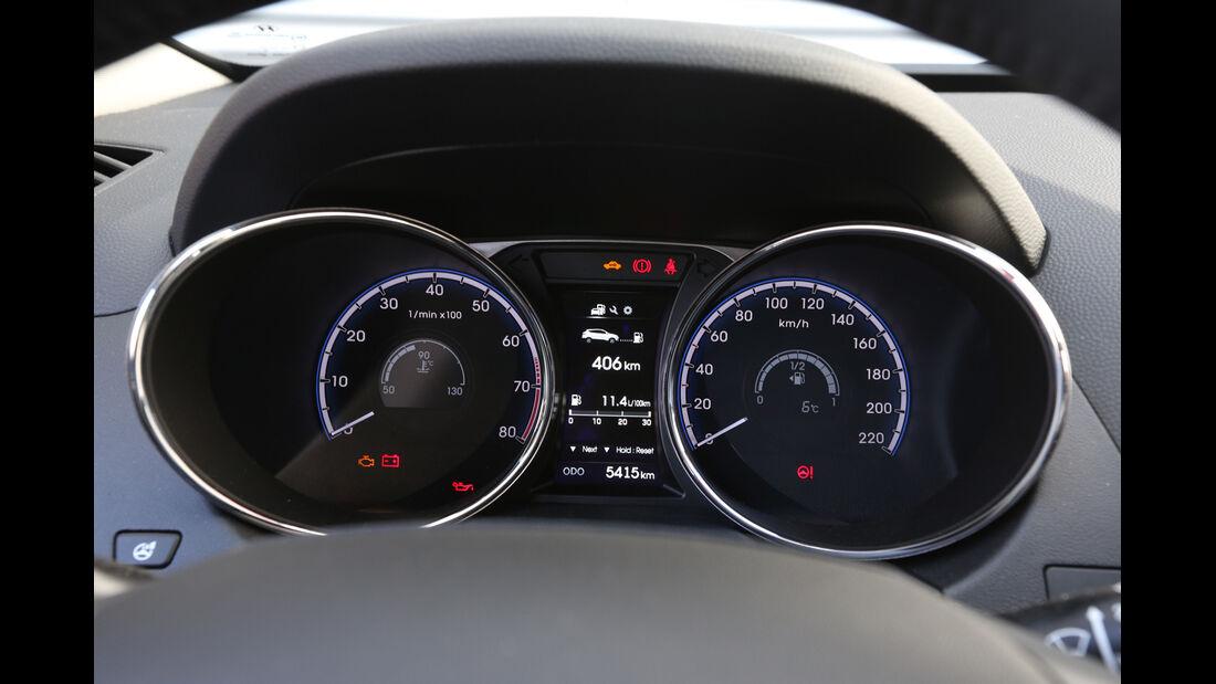 Hyundai ix35 2.0 GDI 4WD, Rundinstrumente