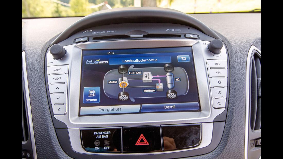 Hyundai ix35 Fuel Cell, Display, Bordmonitor