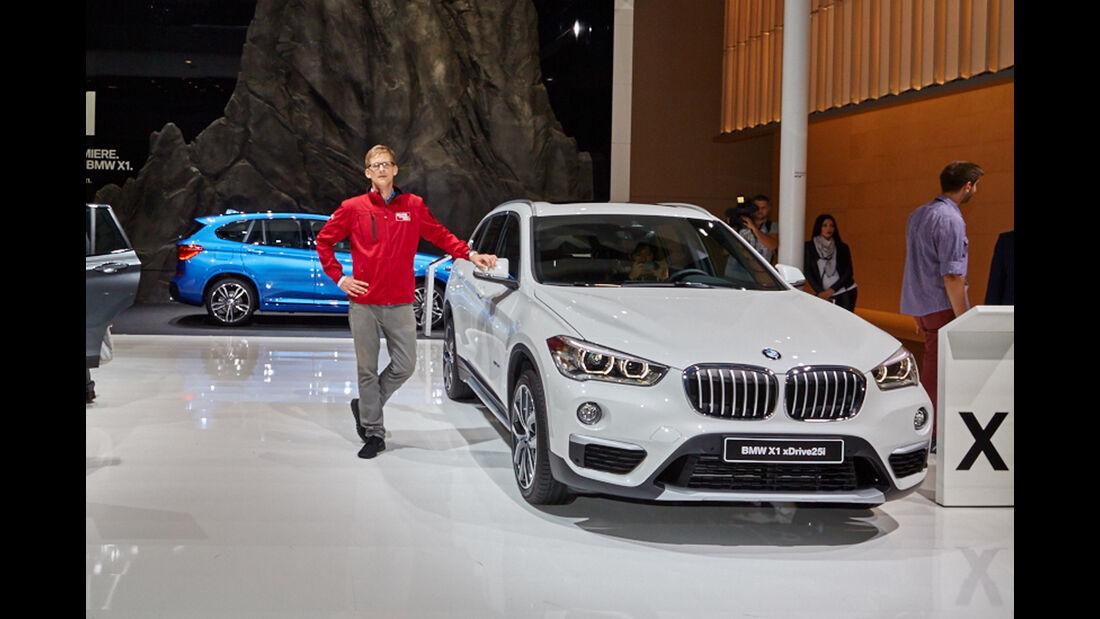 IAA 2015, BMW X1, Sitzprobe, 09/15