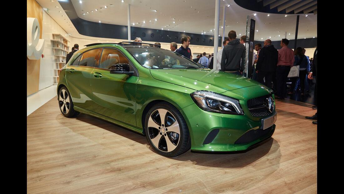 IAA 2015, Mercedes A-Klasse, Sitzprobe, 09/15