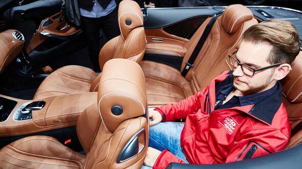 IAA 2015, Mercedes S-Klasse Cabrio, Sitzprobe