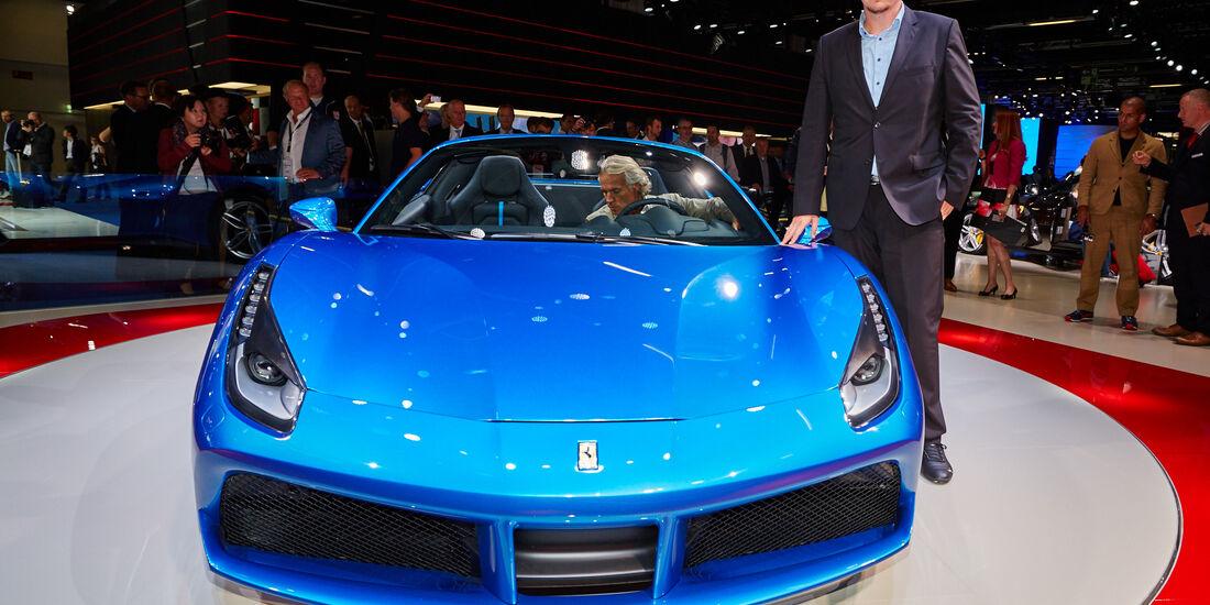 IAA 2015, Sitzprobe Dralle Ferrari 488 Spider