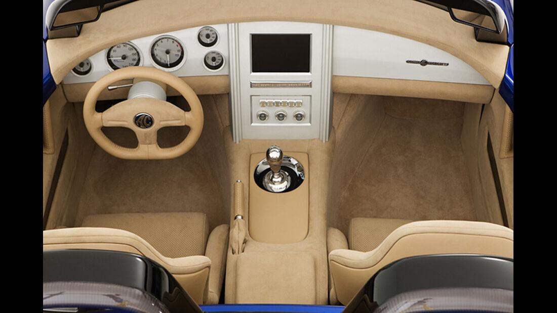 Iconic AC Roadster Inneraum