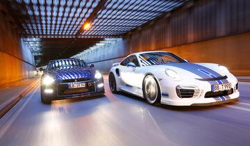 Importracing-Nissan GT-R, Techart-Porsche 911 Turbo S, Frontansicht
