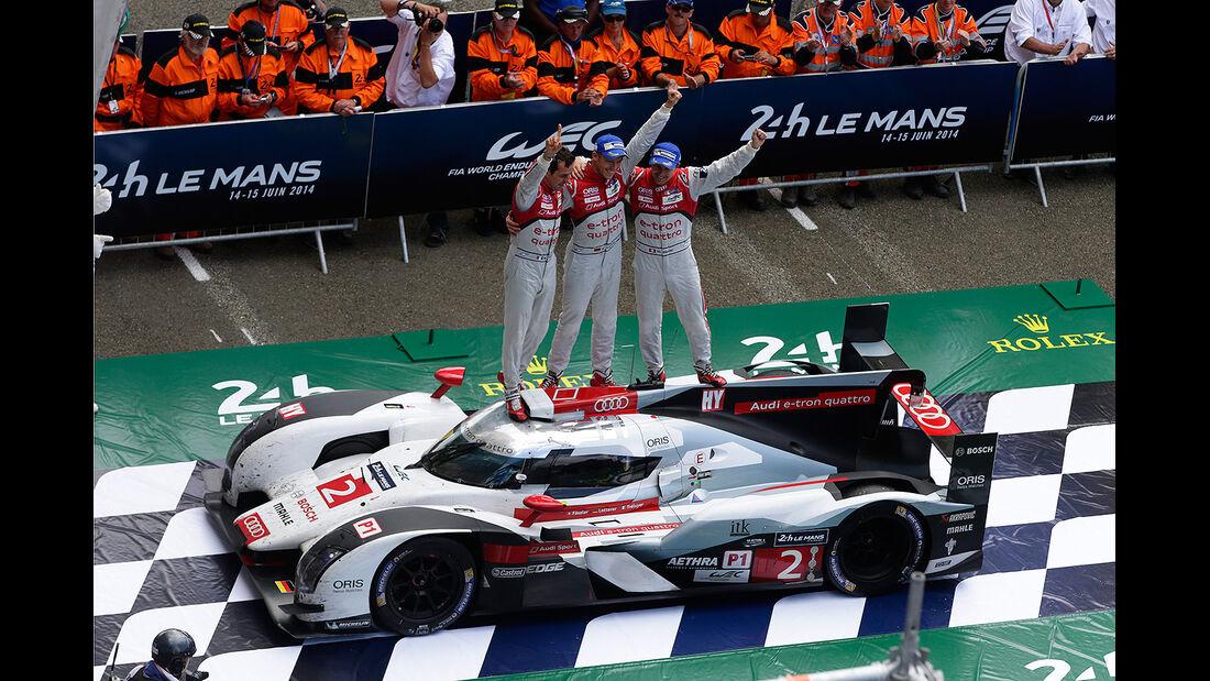 Impressionen - 24h-Rennen - Le Mans 2014 - Lotterer - Tréluyer - Fässler - Audi R18 etron quattro