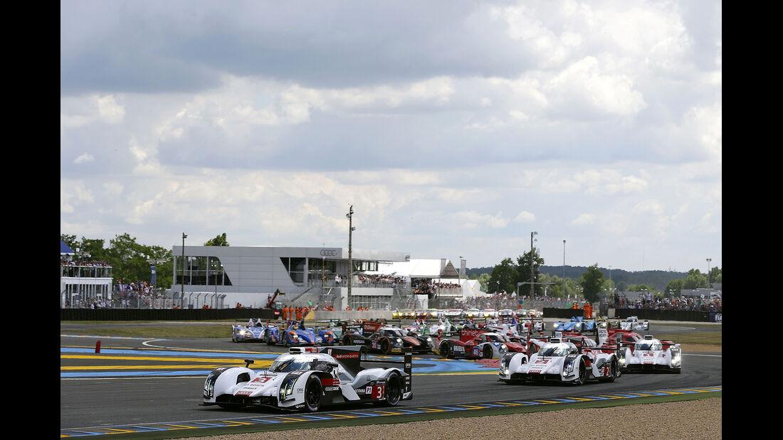 Impressionen - 24h-Rennen von Le Mans 2014 - Motorsport - Audi R18 e-tron quattro - Feld
