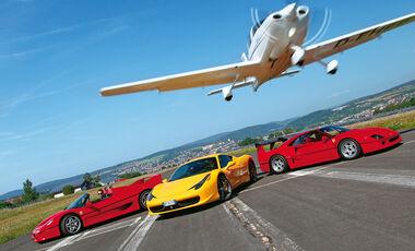 Impressionen Ferrari F40, F50 und 458 Italia