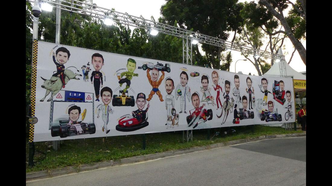 Impressionen - GP Singapur - Formel 1 - Mittwoch - 13.09.2017