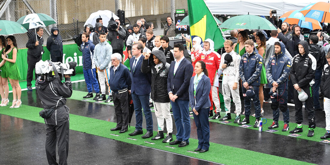 Impressionen - Hymne - GP Brasilien 2016 - Interlagos - Rennen
